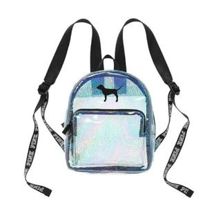 Victoria's Secret PINK Mini Backpack Clear Sparkly